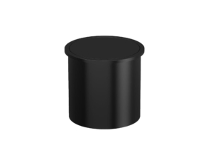 Paper bin with cover 3,5L AISI 304, black